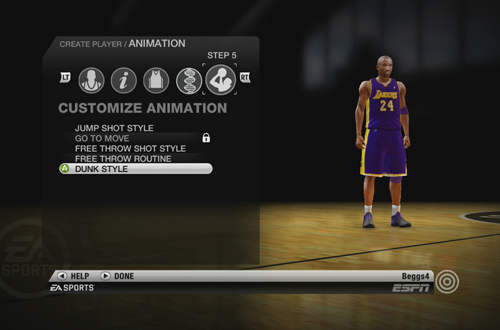 Edit Player in NBA Live 10