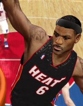 LeBron James on the Miami Heat in NBA Live 10