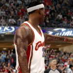 LeBron James in NBA Live 10