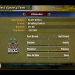 Dynasty Select Screen in the NBA Live PC Mode for NBA Live 06