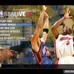 Main Menu in the NBA Live PC Mode for NBA Live 06