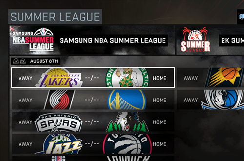 Summer League Menu in NBA 2K16