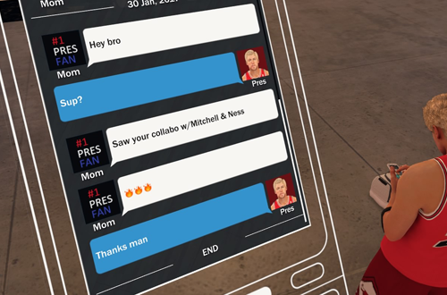 Weird Text From Mom in NBA 2K17's MyCAREER