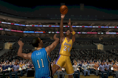Kobe Bryant shoots in NBA Live PC for NBA Live 06