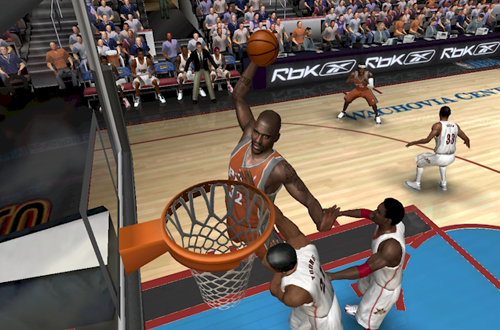 Shaquille O'Neal dunks in NBA Live PC for NBA Live 06