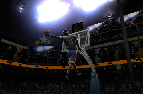 Jason Richardson in NBA Live 2005's Slam Dunk Contest