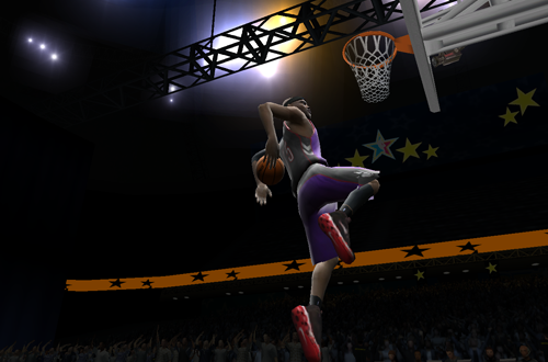 Vince Carter in NBA Live 2005's Slam Dunk Contest