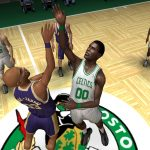 Lakers vs. Celtics in the NBA Live PC Mode for NBA Live 06