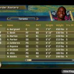 Roster Screen in the NBA Live PC Mode for NBA Live 06