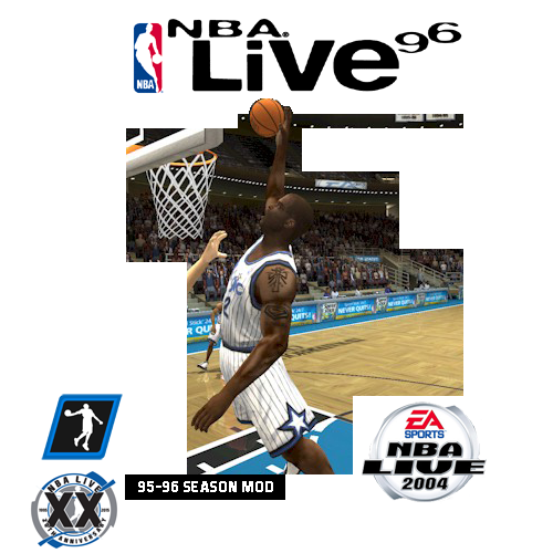 95/96 Season Mod for NBA Live 2004 Cover