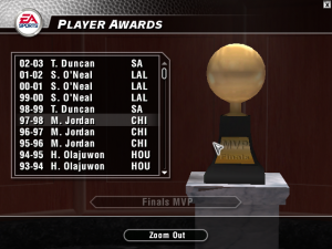 Updated Finals MVPs in NBA Live 2004