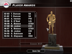 Updated MVPs in NBA Live 2004