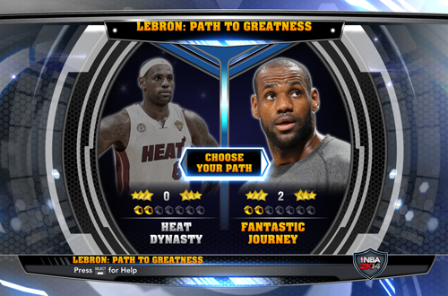 Choose Your Path in NBA 2K14's LeBron: Path to Greatness