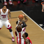 LeBron James in NBA 2K14's LeBron: Path to Greatness