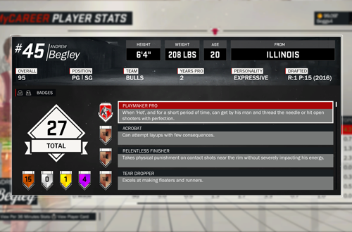 Badges in NBA 2K17's MyCAREER