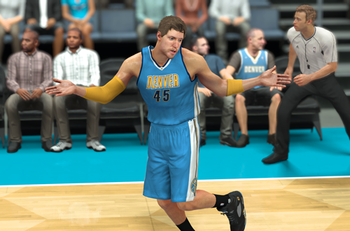 Shrug Celebration during a MyCAREER game in NBA 2K17
