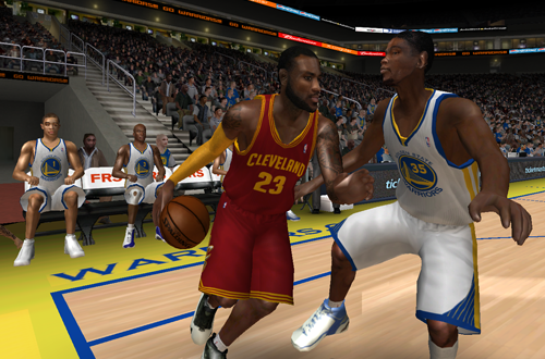 LeBron James vs. Kevin Durant in NBA Live 08 - 2017 Season Roster