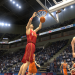 Pau Gasol playing for Spain in NBA Live 2004