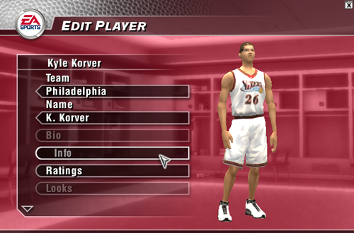 Kyle Korver in NBA Live 2004
