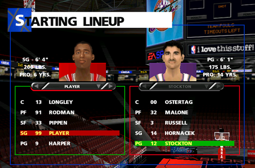 1998 Rosters in NBA Live 99