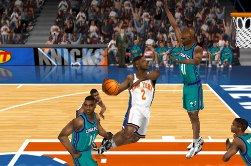 Larry Johnson in the default 1998 rosters in NBA Live 99