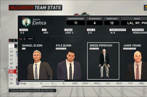 Gregg Popovich on the Celtics in NBA 2K17's MyCAREER