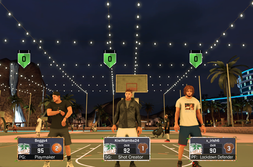 Getting online to play MyPARK in NBA 2K17