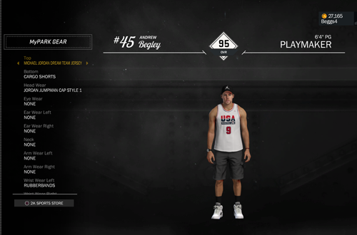 MyPLAYER Gear in NBA 2K17's MyCAREER
