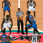 Referee at Tip-Off in NBA Live 2000