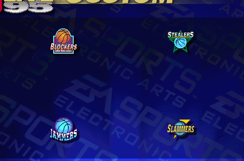 The four Custom Teams in NBA Live 95