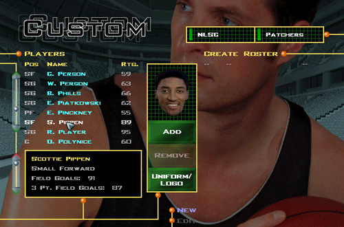 Custom Teams in NBA Live 98