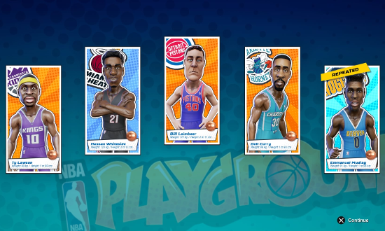 Cards in NBA Playgrounds.