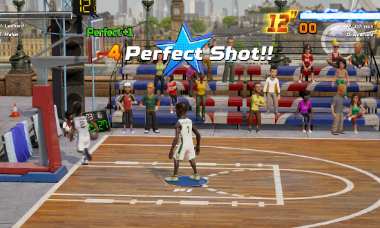 4-point perfect shot in NBA Playgrounds.
