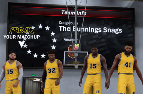 The Bunnings Snags in NBA 2K17's 2K Pro-Am