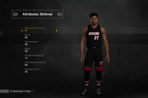 Editing Hassan Whiteside in NBA 2K17