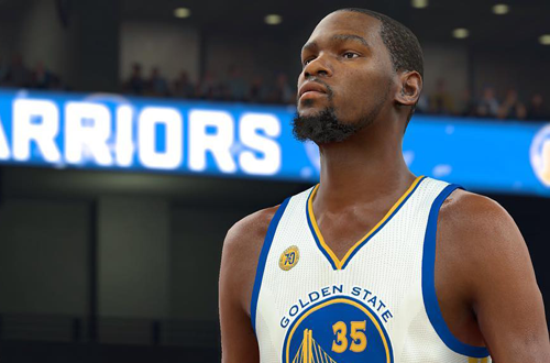 Kevin Durant in NBA 2K17, the current leader in NBA video games