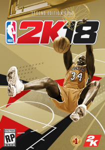 Shaquille O'Neal on the NBA 2K18 Legend Edition Gold Cover