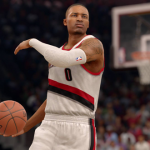 Damian Lillard in NBA Live 16, a game in one of the oldest NBA video games