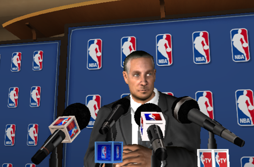 Cutscene from NBA 08: Featuring The Life