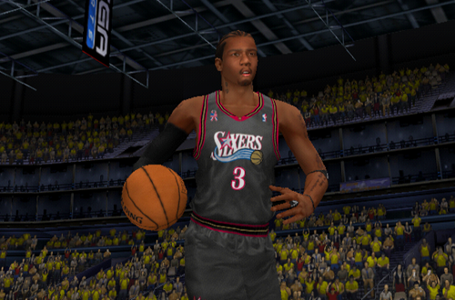 Cover Player Allen Iverson in NBA 2K2