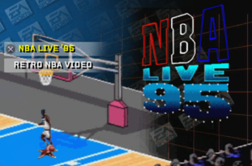 EA Sports Retro Menu in NBA Live 06 PS2