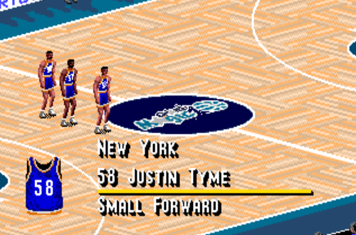 Justin Tyme in NBA Live 95 (NBA Live 06 PS2)