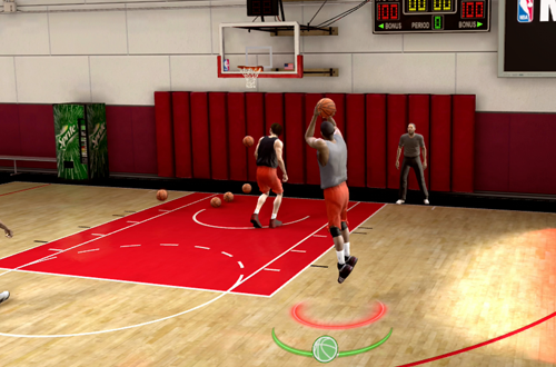 Shooting the basketball in NBA Live 09