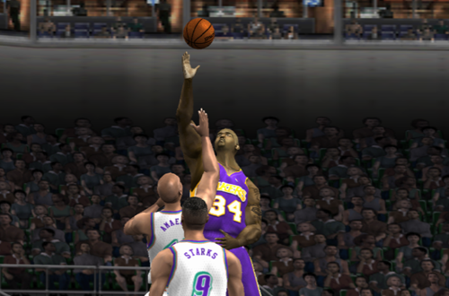 Shaquille O'Neal in NBA Live 2002