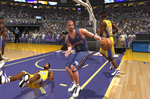 Spin Moves were cheesy in NBA Live 2003