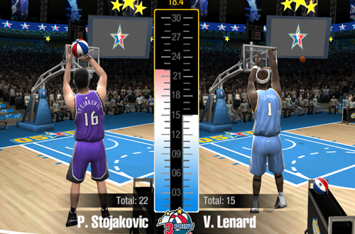 3 Point Showdown in NBA Live 2005's Freestyle Challenge
