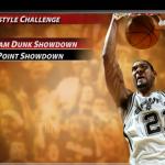 Freestyle Challenge Menu in NBA Live 2005