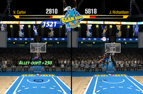 Slam Dunk Showdown in NBA Live 2005's Freestyle Challenge