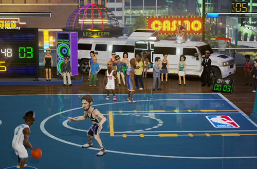 A game of NBA Playgrounds