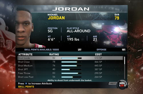Updating Attributes in NBA 2K11's MJ: Creating a Legend